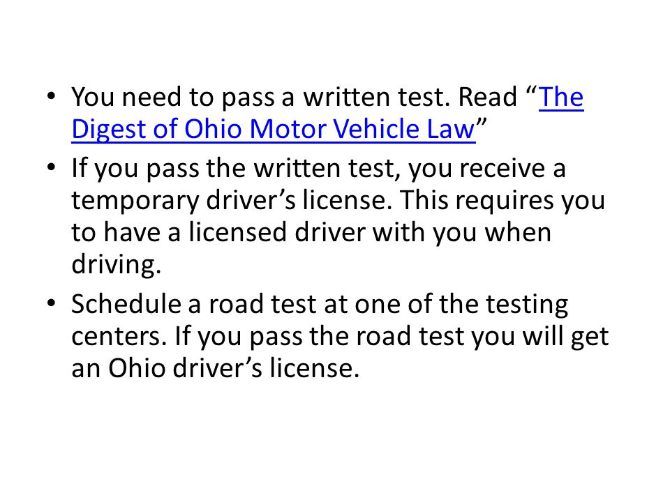 Things to do in Obtaining a driver license When scheduling your road test, choose a Bureau of Motor Vehicles (BMV) Office you would like to take test at.