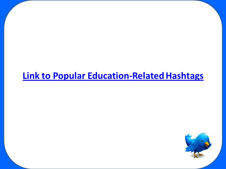Link to Popular Education-Related Hashtags