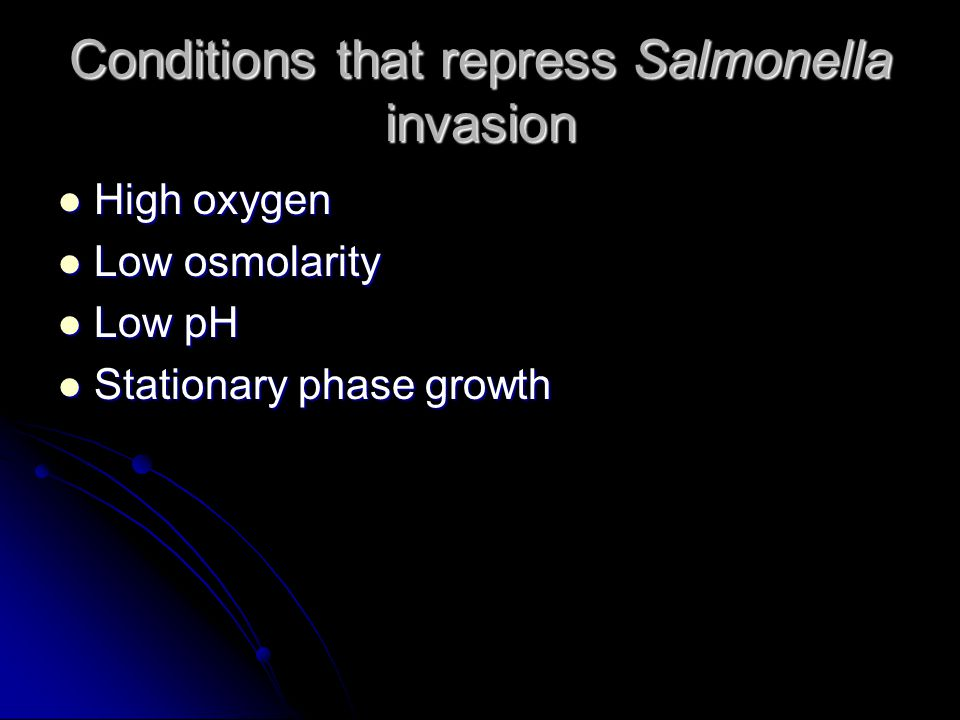 Rationale The factors that regulate the hilA gene are the same as those that regulate the invasive phenotype of Salmonella.