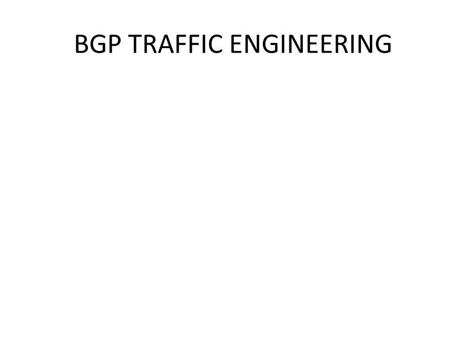 BGP TRAFFIC ENGINEERING