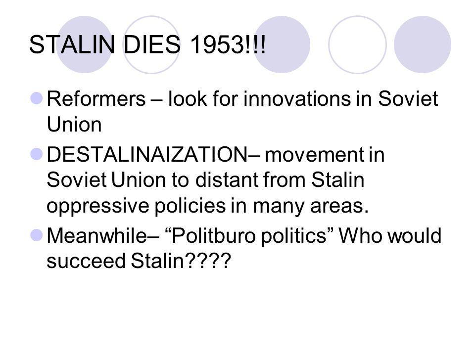STALIN DIES 1953!!.