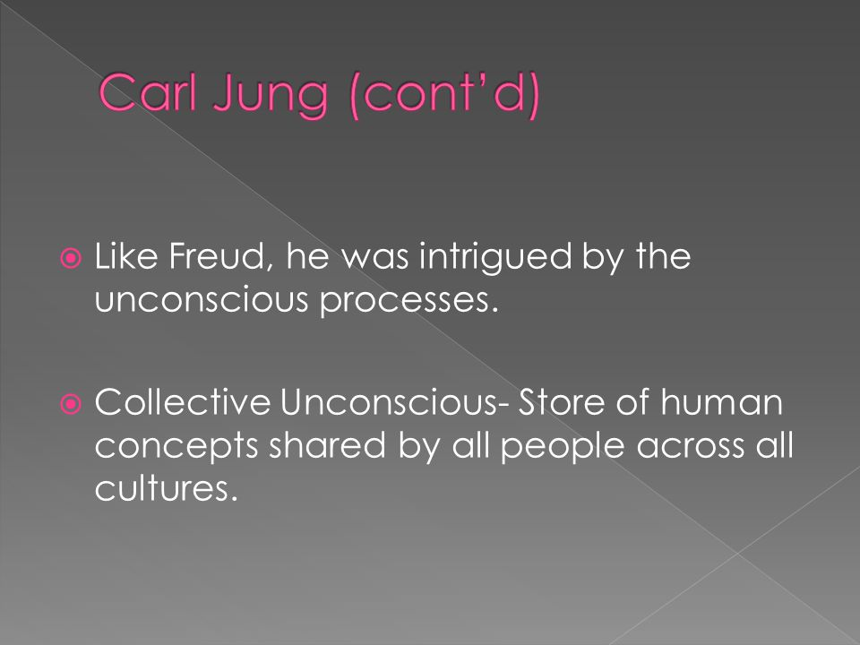  Like Freud, he was intrigued by the unconscious processes.
