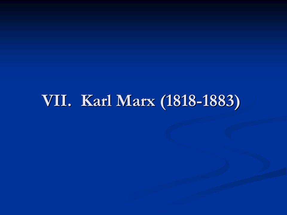 VII. Karl Marx (1818-1883)