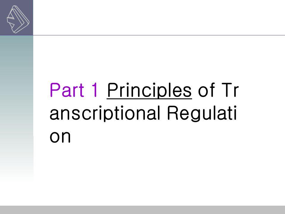 Part three: Examples of gene reg ulation at steps aft er transcription ini tiation