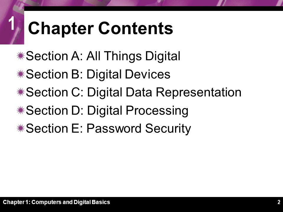 1 Chapter 1: Computers and Digital Basics43 Processor Logic
