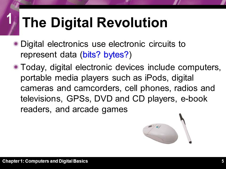 1 Chapter 1: Computers and Digital Basics26 PDAs, Portable Players, and Smart Phones
