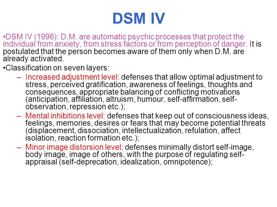 DSM IV DSM IV (1996): D.M.