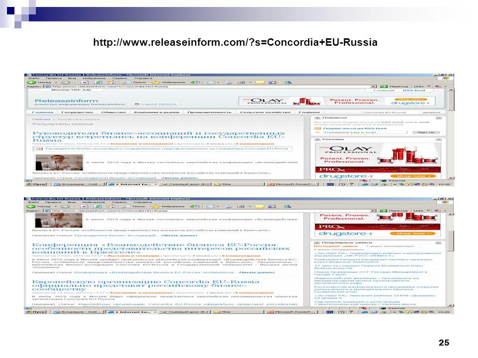 25 http://www.releaseinform.com/ s=Concordia+EU-Russia