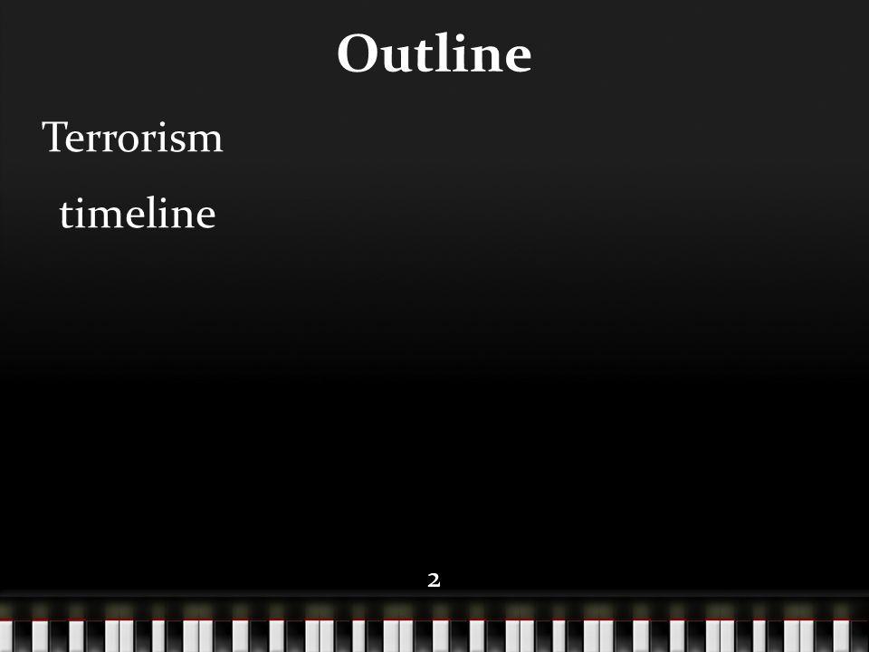 22 Outline Terrorism timeline