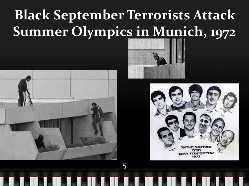 5 Black September Terrorists Attack Summer Olympics in Munich, 1972