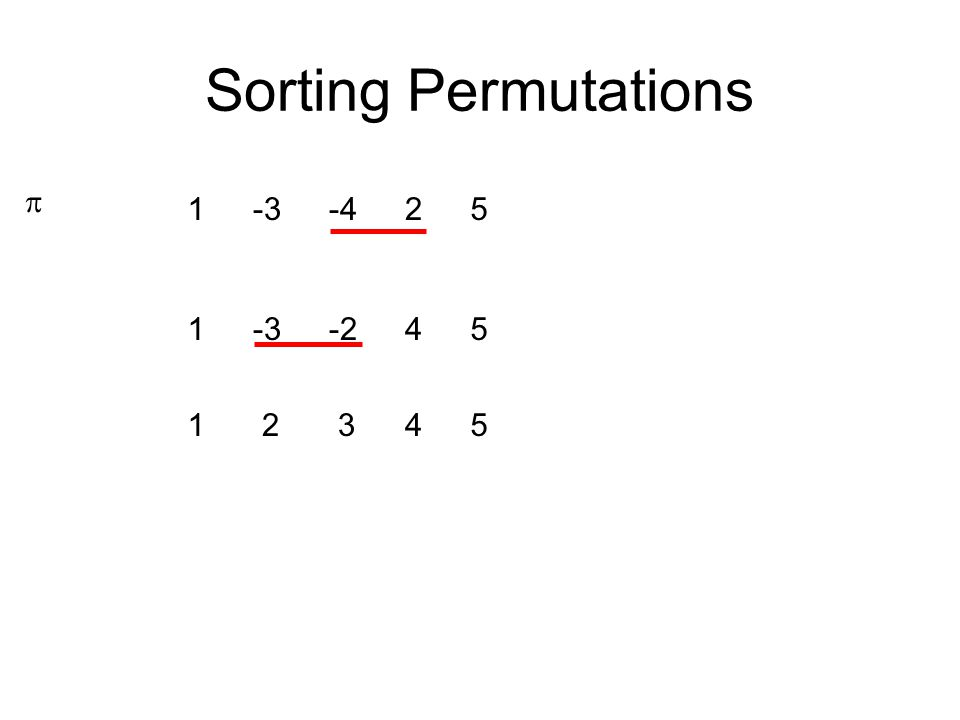 Sorting Permutations  2 3451 -425-31 -2451