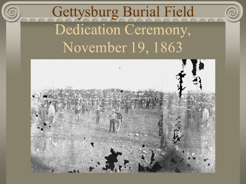 Gettysburg Burial Field Dedication Ceremony, November 19, 1863