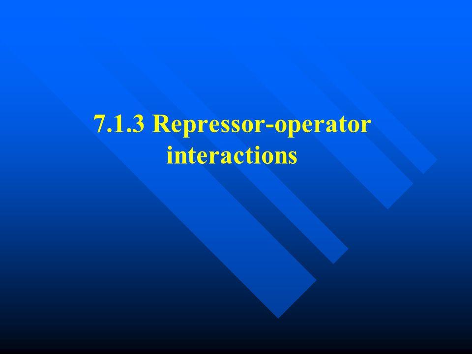 7.1.3 Repressor-operator interactions