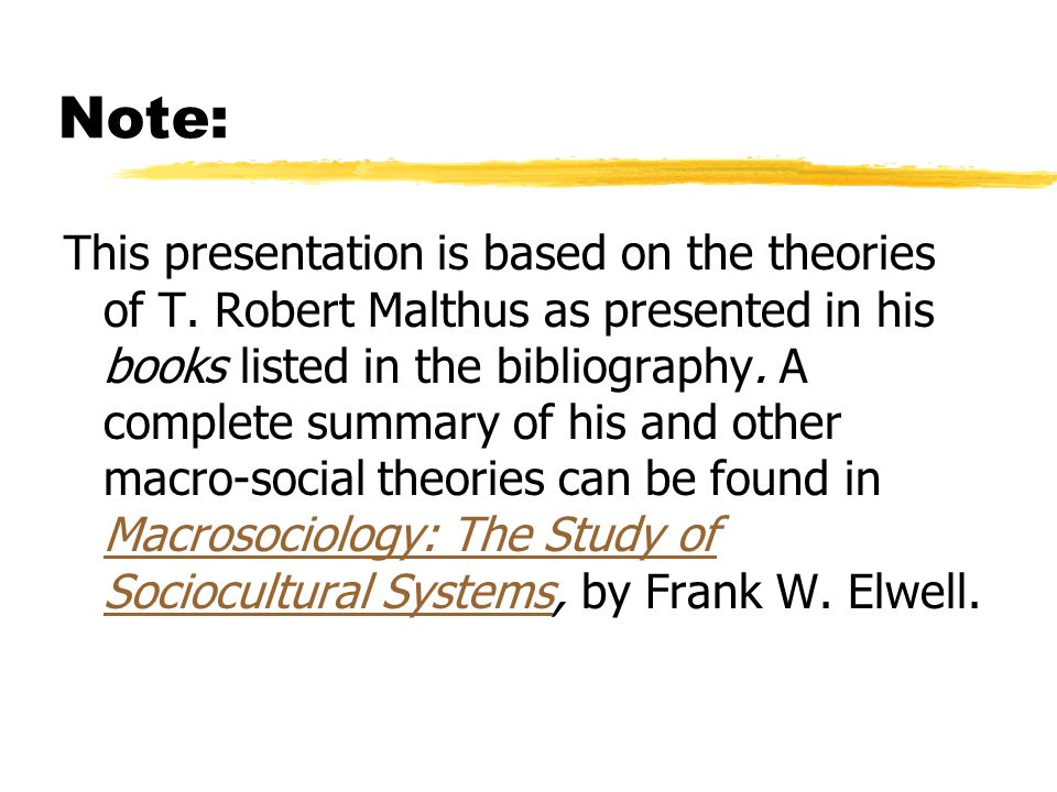 Note: This presentation is based on the theories of T.