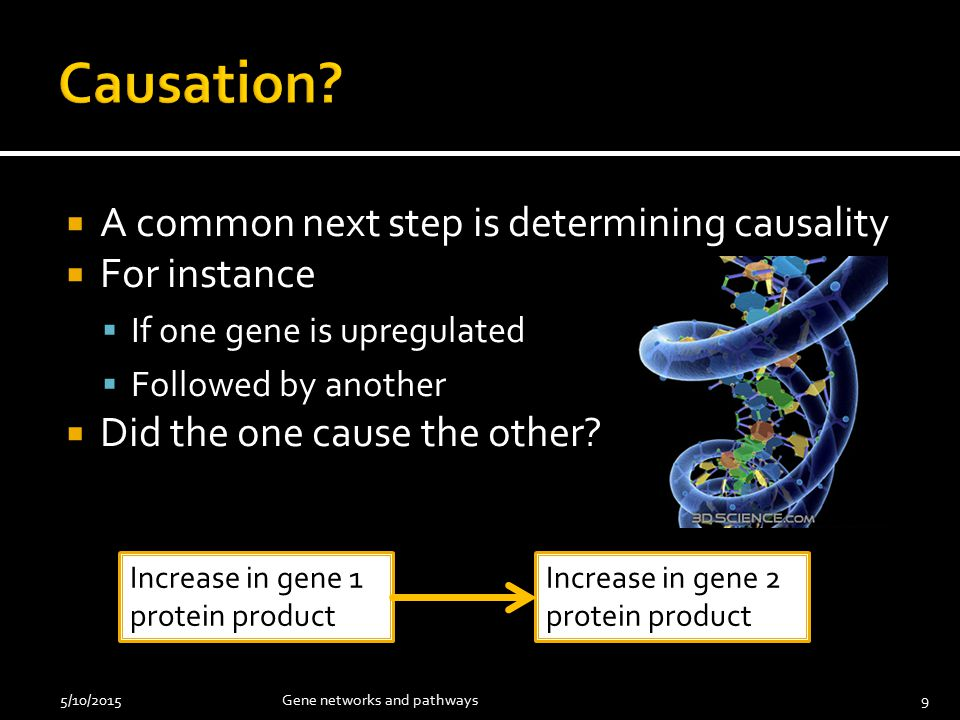  Start with a hypothesis  Do a literature review  If know what the gene is (and its function) have others noted the relationship.