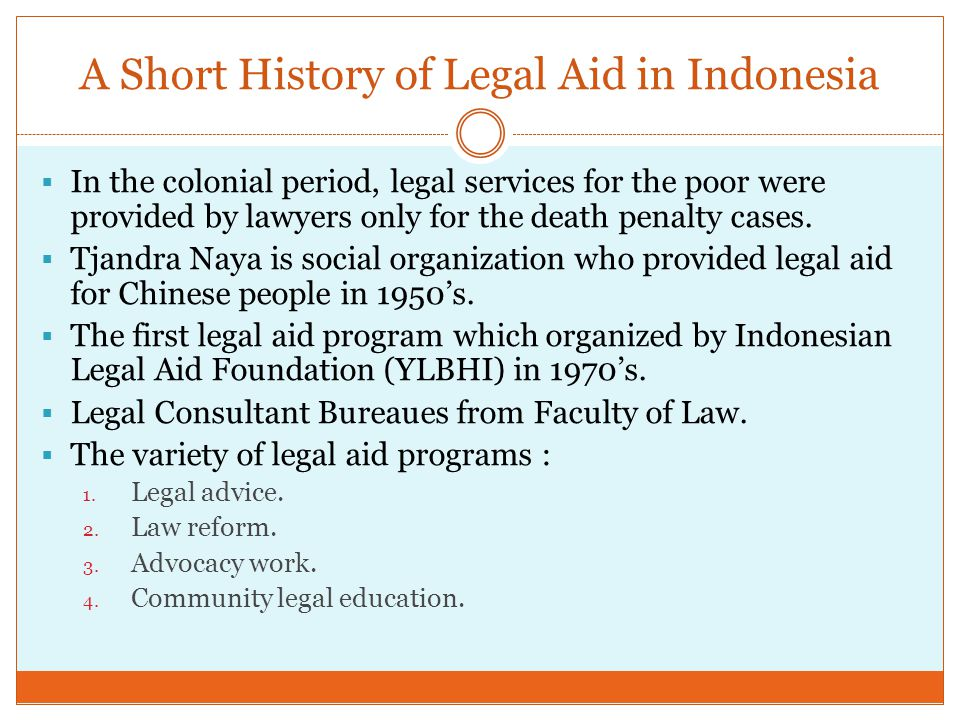  YLBHI and it's 16 branch offices has been using a structural legal aid framework and approach which means legal aid as a tool to reform law and political structure that repress the marginalized and the disadvantaged.