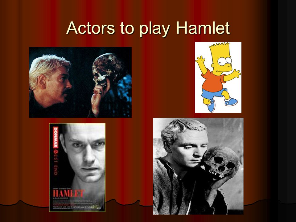 Actors to play Hamlet