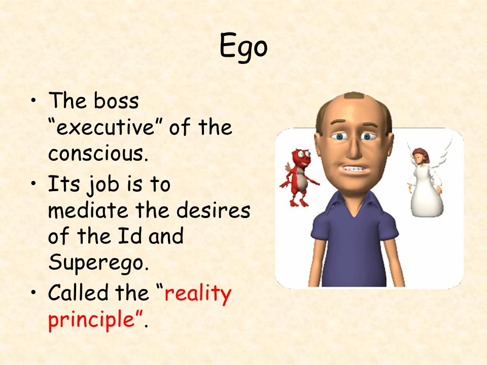 Ego The boss executive of the conscious.