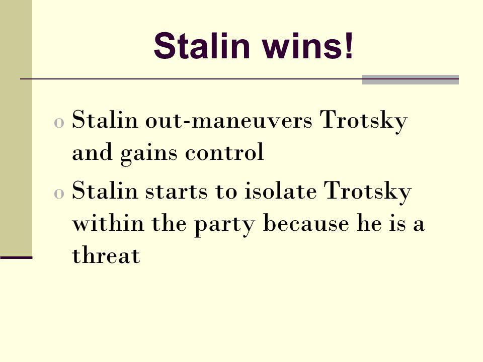 Stalin wins.