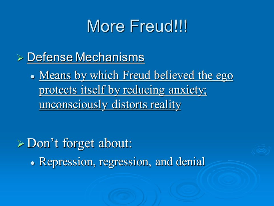 More Freud!!.