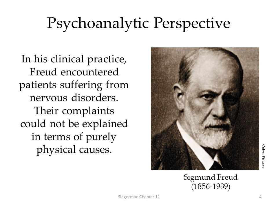 Psychodynamic Perspective Freud's clinical experience led him to develop the first comprehensive theory of personality, which included the unconscious mind, psychosexual stages, and defense mechanisms.