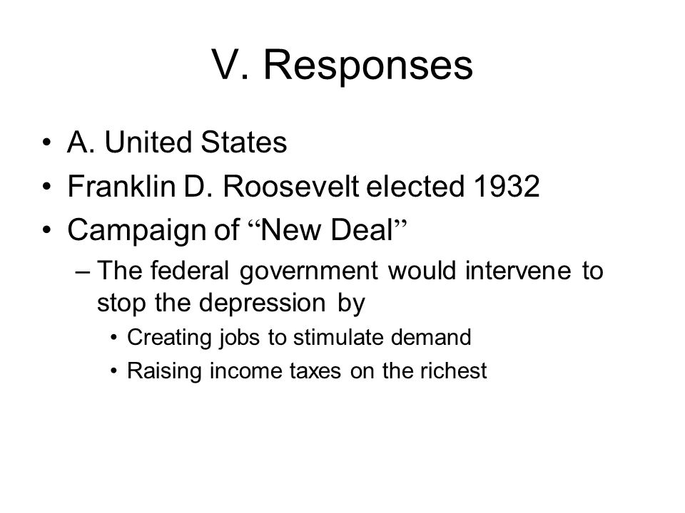 V. Responses A. United States Franklin D.
