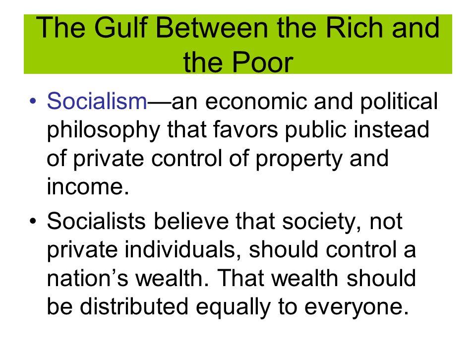 Socialism Karl Marx— German Philosopher who wrote Communist Manifesto, which denounced capitalism