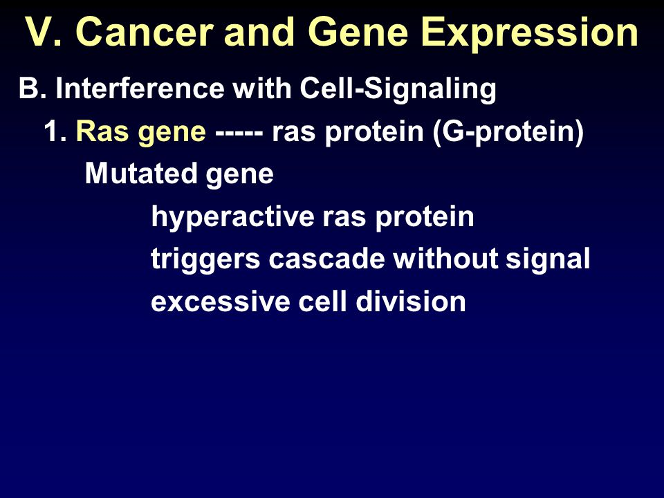 V. Cancer and Gene Expression B. Interference with Cell-Signaling 1.