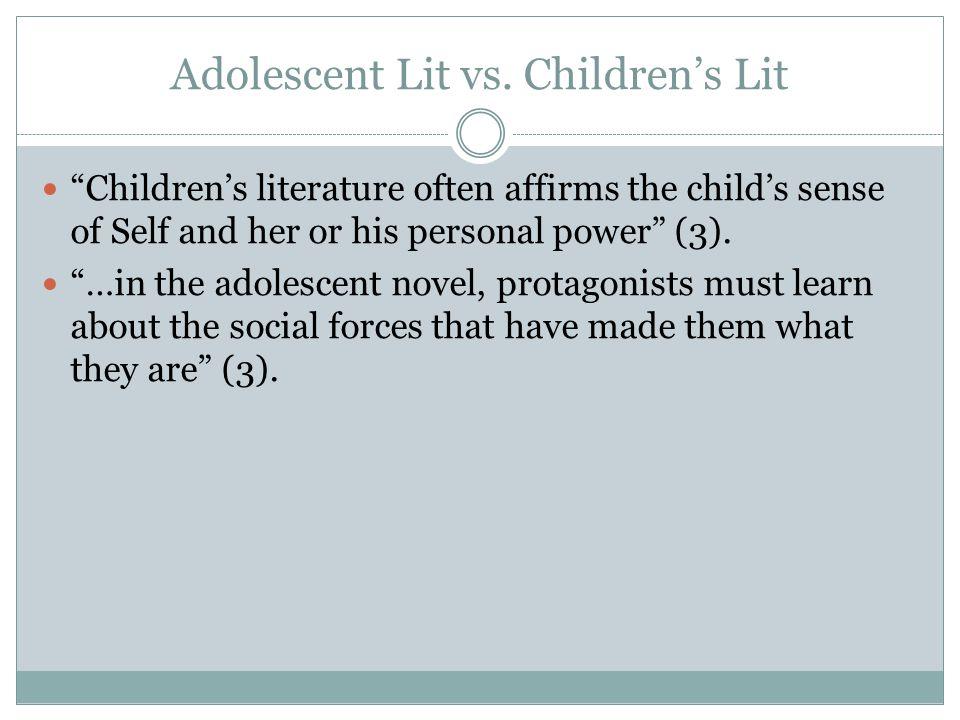 Adolescent Lit vs.