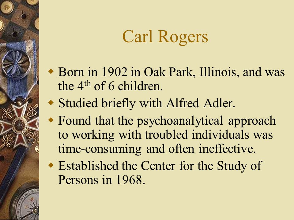Evolution of Person-Centered Processes  Experiential Period (1957-80) – Began with Rogers issuing his statement on the necessary and sufficient (core) conditions of counseling: EMPATHY – the ability to feel with clients and convey this understanding back to them.