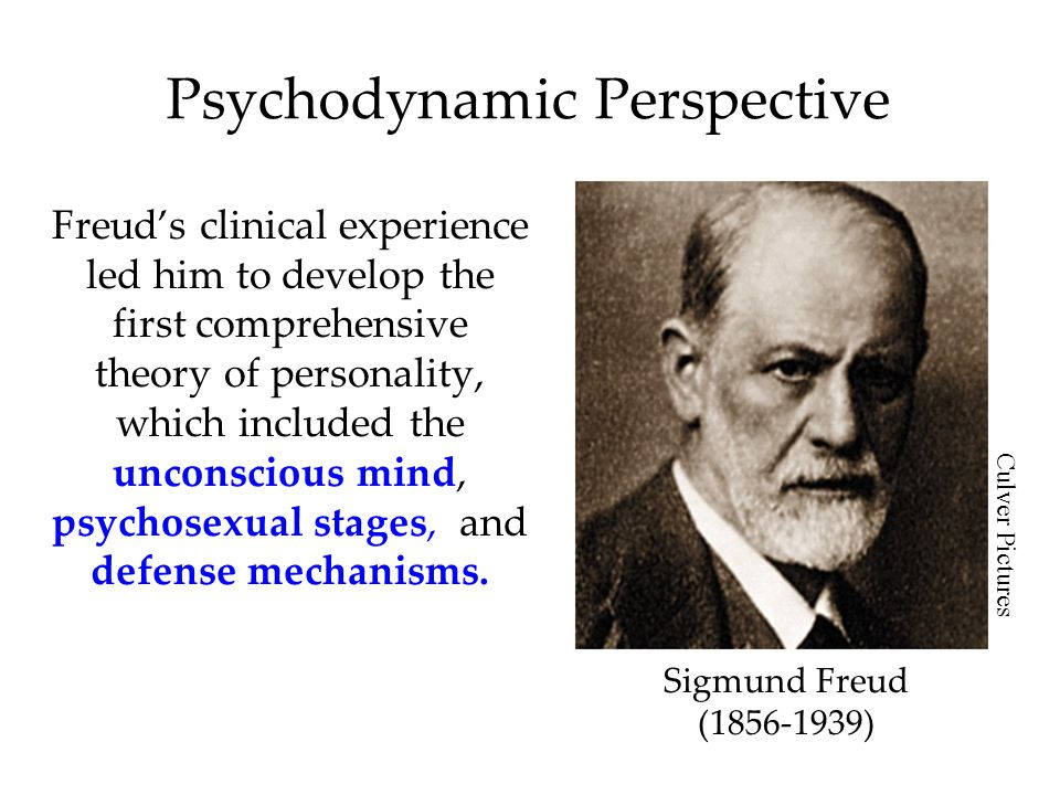 Psychodynamic Perspective Freud's clinical experience led him to develop the first comprehensive theory of personality, which included the unconscious