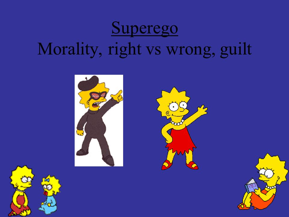 Superego Morality, right vs wrong, guilt