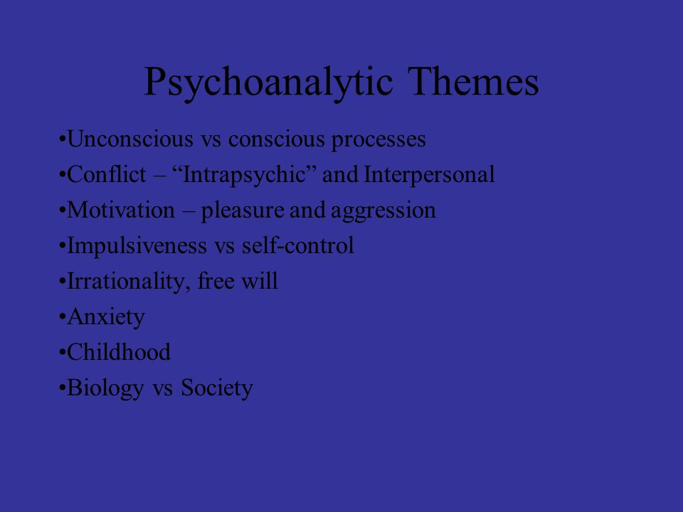 Psychoanalytic Perspective Personality Development StageAgeFocusThemePersonality Oral0-1.5 yrsMouthDependencyToo passive OR Too independent Anal1.5-3 yrsAnusSelf-control,Over-controlled, obedient obedience OR Under-controlled- disorganized, rebellious Phallic4-5 yrsPenisGender, Overly-sexual OR (Oedipal crisis)morality Asexual Latency6-12 yrs-none-Social life-none- beyond family GenitalPubertyGenitalsEnhancement Psychological adjustment to adult of life