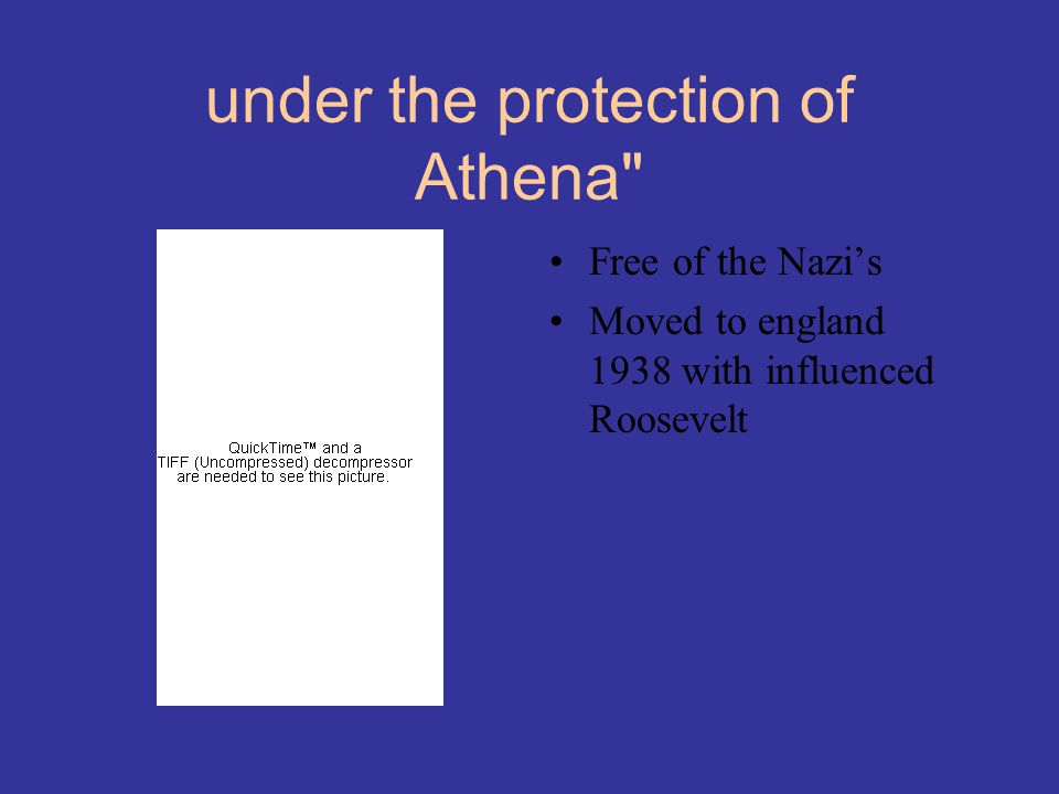 under the protection of Athena
