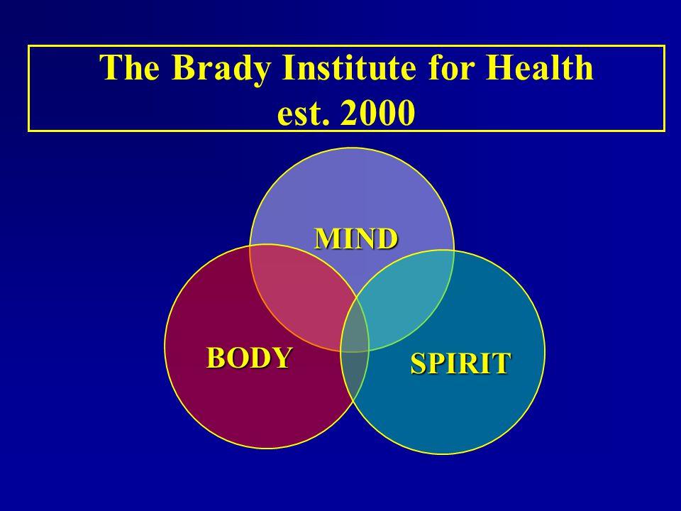 The Brady Institute for Health est. 2000 BODY MIND SPIRIT