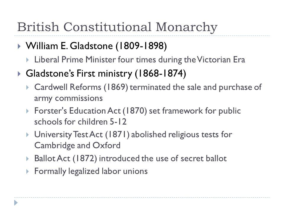 British Constitutional Monarchy  William E.