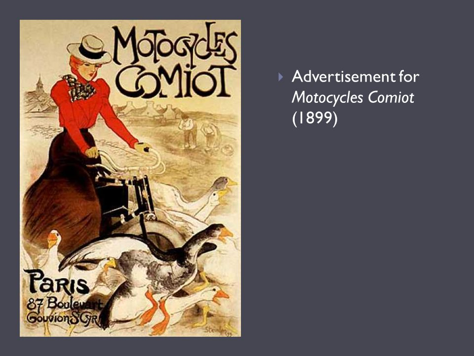  Advertisement for Motocycles Comiot (1899)