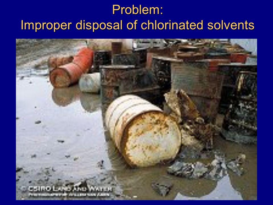 Problem: Improper disposal of chlorinated solvents