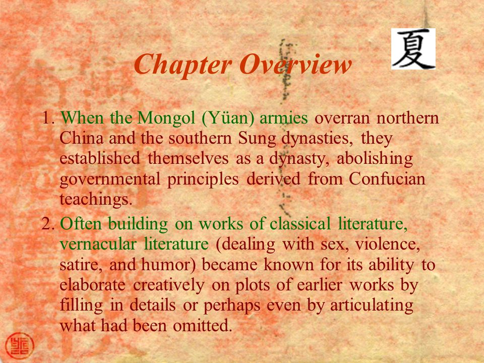 Chapter Overview 1.