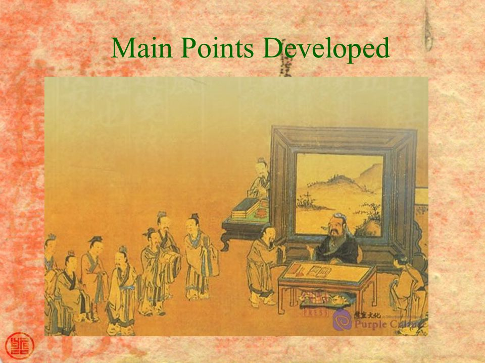 Main Points Developed