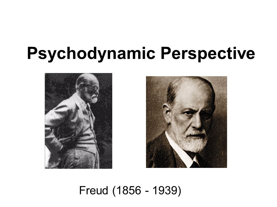 Psychodynamic Perspective Freud (1856 - 1939)