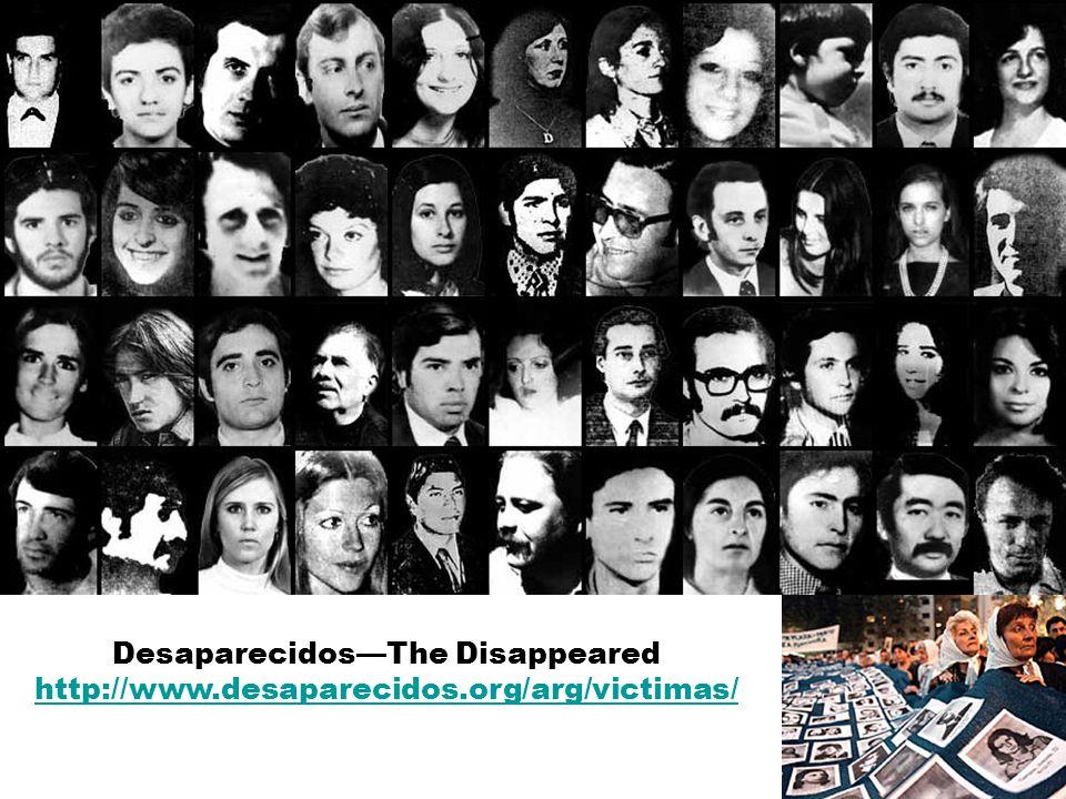 Desaparecidos—The Disappeared http://www.desaparecidos.org/arg/victimas/