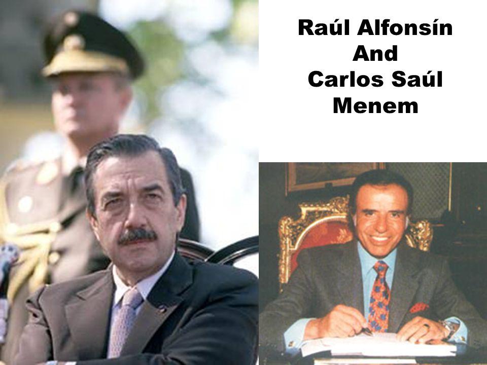 Raúl Alfonsín And Carlos Saúl Menem