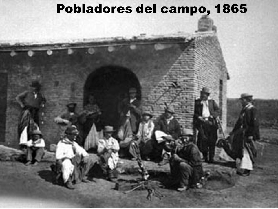 Pobladores del campo, 1865
