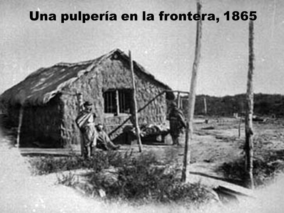 Una pulpería en la frontera, 1865