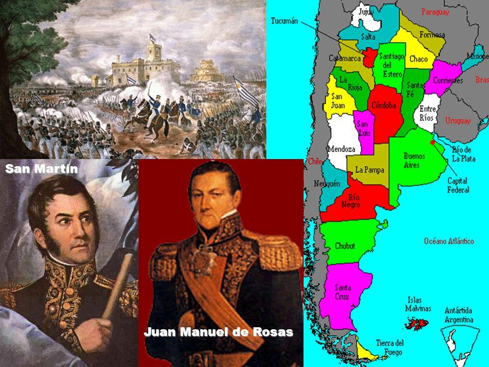 San Martín Juan Manuel de Rosas