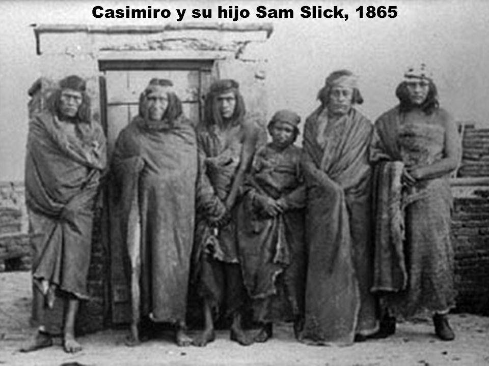 Casimiro y su hijo Sam Slick, 1865