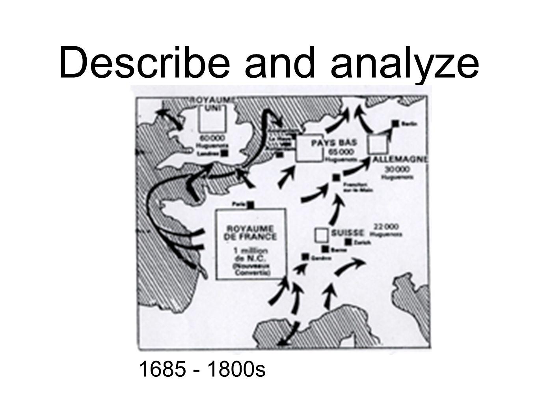 Describe and analyze 1685 - 1800s