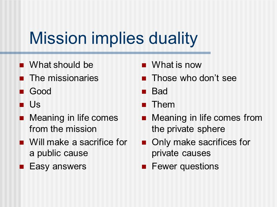 How big is the mission.