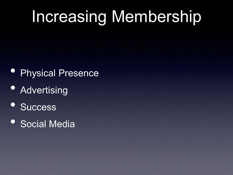 Physical Presence Advertising Success Social Media Increasing Membership